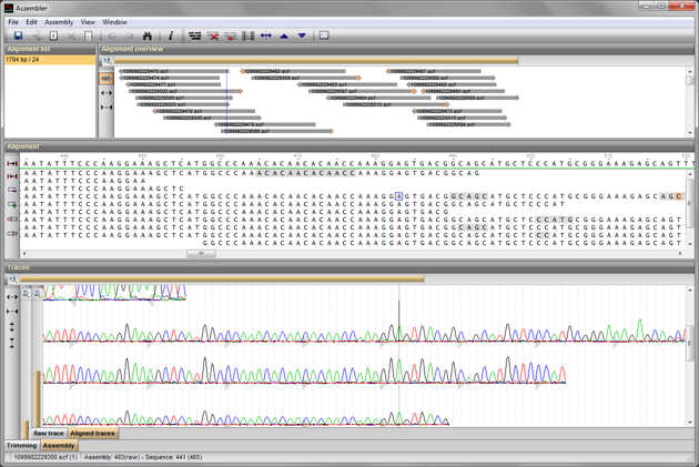 Assembly tool for Sanger sequencing